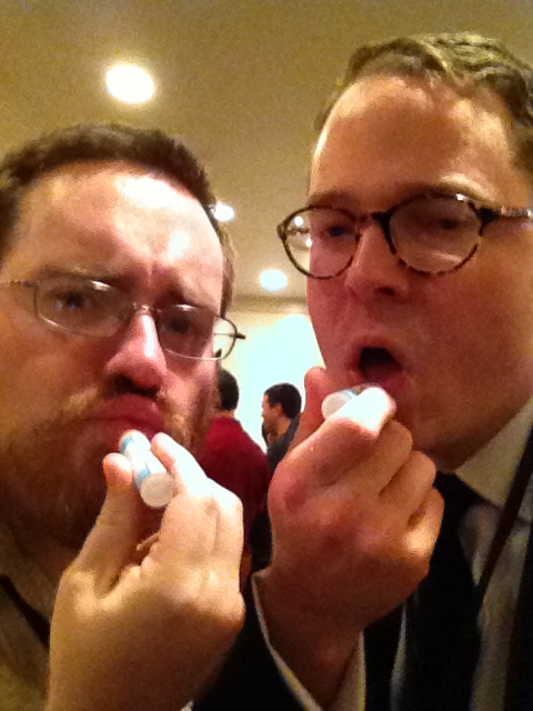 Here is me and Brian McClellan sexily putting on our sexy Reddit chapstick, the sexiest of chapsticks.